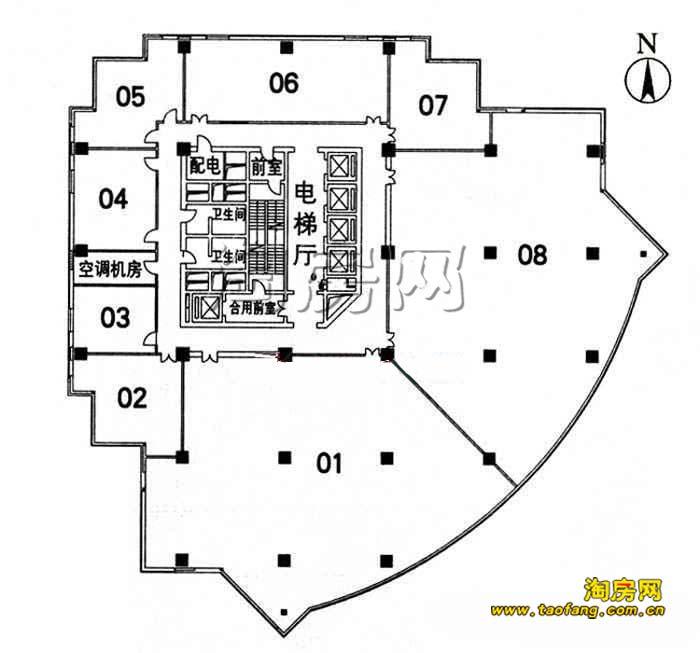 地下二层;主体结构为